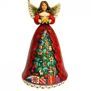 Jim Shore Musical Christmas Tree Angel Figurine